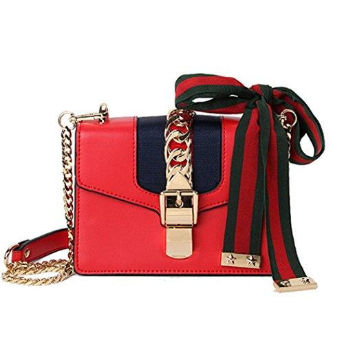 Small bandoulière cuir Red bandoulière Size Femme sac véritable Small 9008 MC sac Macton à Size Red xa0OqqB