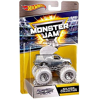 Hot Wheels Monster Jam 25th Anniversary Collection Mohawk Warrior Die-Cast Vehicle, Silver: Toys & Games