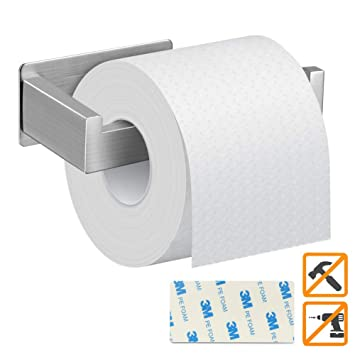 Portarrollos Baño Adhesivo, DIAOPROTECT Portarrollos Para Papel Higiénico, Porta Papel Higiénico de 304 Acero Inoxidable de 3M Pegamento Fuerte para ...
