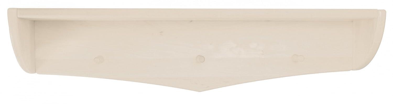 BioKinder Luca Garderobe Schweberegal Wandregal Wandboard aus Massivholz Kiefer 84 x 15 x 14 cm weiß lasiert