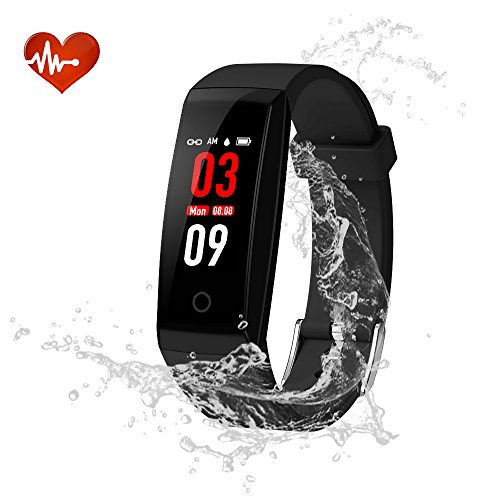 Fitness Tracker, YOUNGDO Color Screen Smart Watch Activity Tracker with Heart Rate Monitor, Step Counter, Sleep Monitor, IP67 Waterproof Smart Bracelet Pedometer Wristband by YOUNGDO