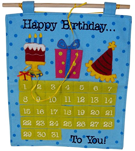 Birthday  Countdown  Calendar, Fun Birthday Celebration Idea for the Best Happy Birthday , Birthday Decorations  -  The Finishing Touch By American Greetings