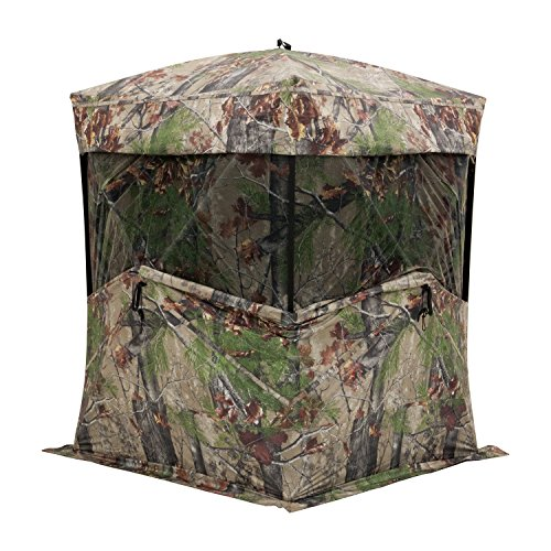 Barronett Big Mike Ground Hunting Blind, 3 Person Pop Up Portable, Backwoods Camo