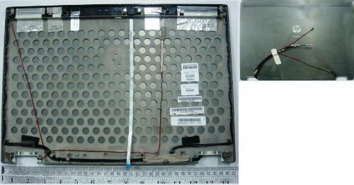 HP 594034-001 Back display cover without webcam - For HP EliteBook 8440w Mobile Workstation by HP (Image #1)