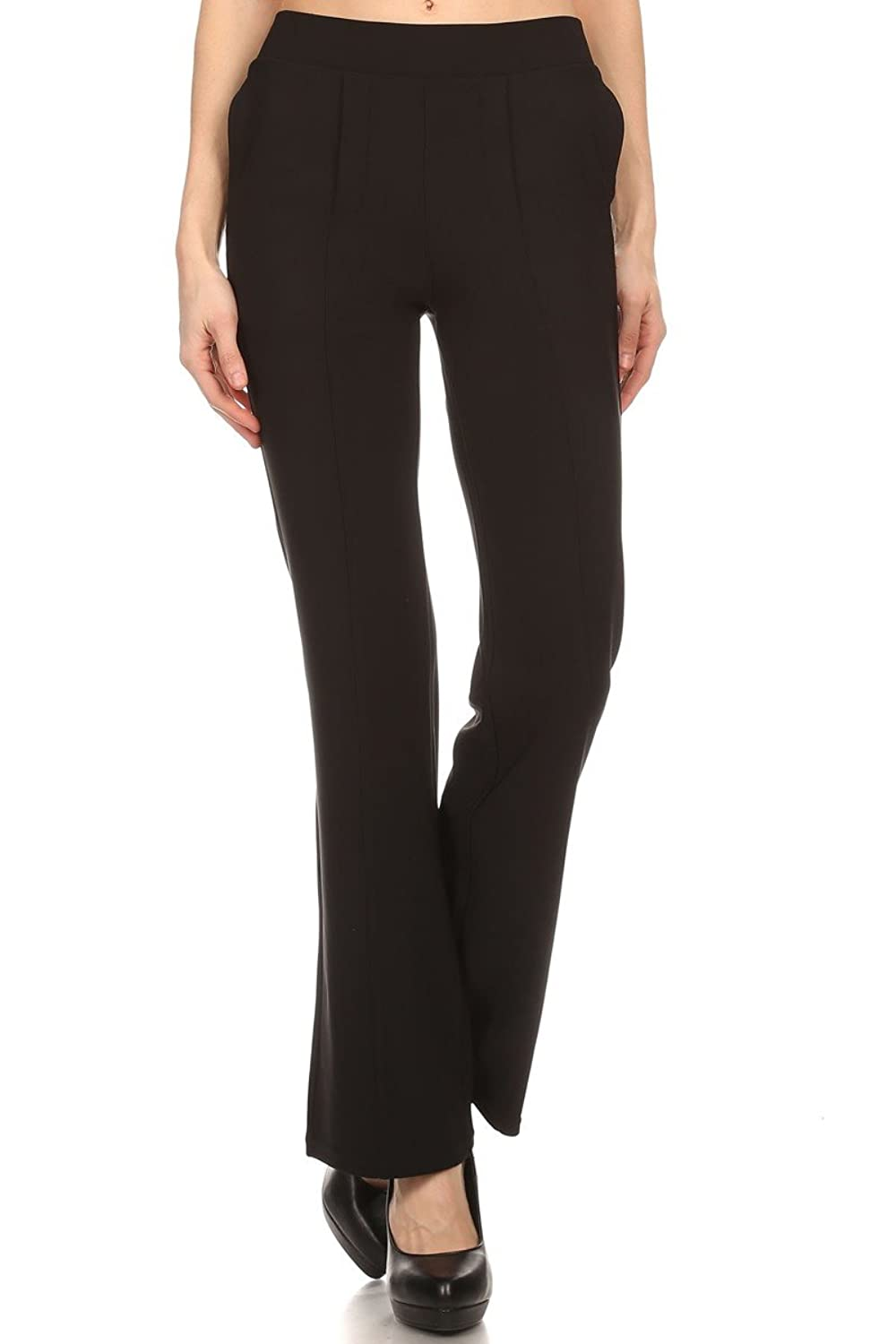 Solid Full-Length Pants and Trousers