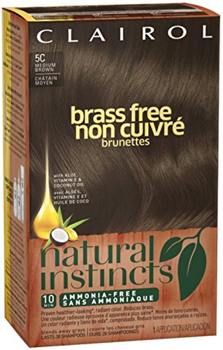 Natural Instincts Brass Free Hair Color, Medium Brown [5C] 1 ea (Pack of 12) by Clairol