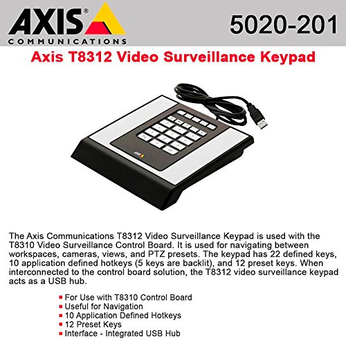 AXIS T8312 Surveillance Control Panel / KEYPAD 22BTN KEYPAD WITH USB CABLE / 5020-201 / by Axis Communications