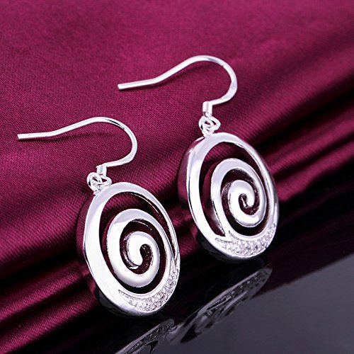 Cyber Monday Sale 2015 Cubic Zirconia Stone Earrings Silver Plated Earrings Cyber Monday Sale 2015 Simple Circular Shape Earring for Women Outstanding Long Earrings (Zirconia Circular Earring)