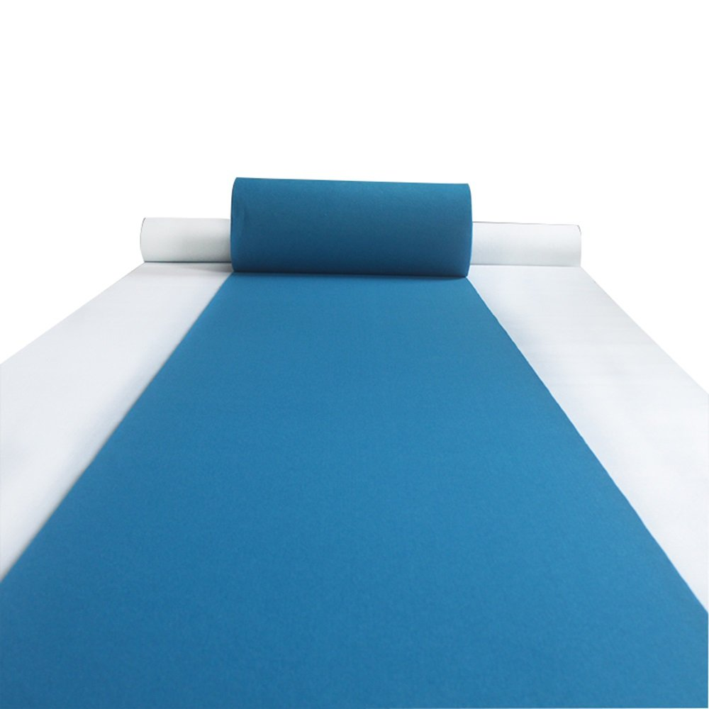 Blue 2mm thick non-slip carpet/opening ceremony disposable carpet/wedding stair stage carpet, 0.2KG/square meter (19 (Color : Blue, Size : 1.210m)