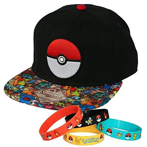 Pokemon Ball Power Team Snapback Cap Hat with Bracelet - Import It ... 354f55951c87