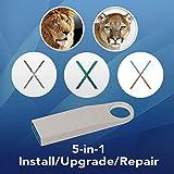 5-in-1 OS X Installer - Lion, Mountain Lion, Mavericks, Yosemite, El Capitan Bootable USB Disk. Instructions included.