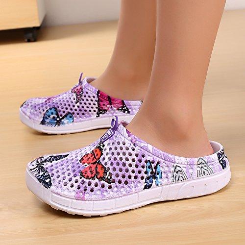 Slippers Clog Bash Beach Shoes Ouyaji Garden Footwear Purple3 Water Summer Womens Hgw1fzqR