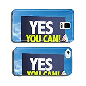 Yes You Can card with sky background cell phone cover case Samsung S5