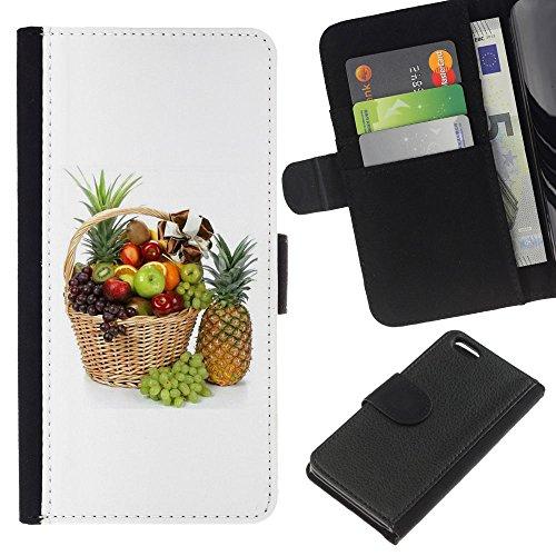 Lead-Star (Fruit Macro Beautiful Fruits) Colorful Impression Holster Cuir Wallet Cover Housse Peau Cas Case Coque Pour Apple iPhone 5C