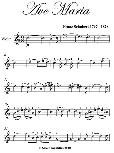 Ave Maria Schubert Easy Violin Sheet Music