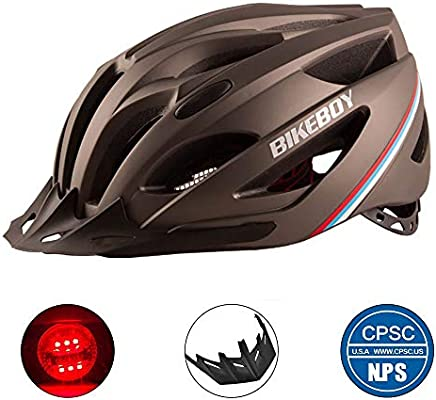 TKTTBD Ultralight Casco Bicicleta con Luz LED,Adultos Casco de ...