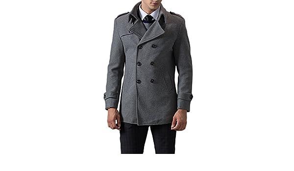 e4793034 TAPOO Abrigo de Lana de Hombre Coat Parka Chaquetón para Invierno:  Amazon.es: Ropa y accesorios