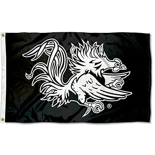 (College Flags and Banners Co. South Carolina Gamecocks Black Flag )