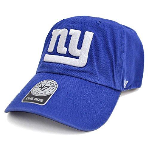 暗黙レザー振るう47 Brand(47ブランド) NFL ニューヨーク?ジャイアンツ Cleanup Adjustable キャップ (ロイヤル)