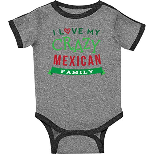 inktastic - Funny Mexican Infant Creeper Newborn Ringer Heather and Smoke ()