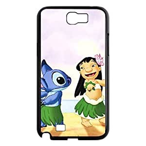 Samsung Galaxy N2 7100 Cell Phone Case Black Disneys Lilo and Stitch fdin