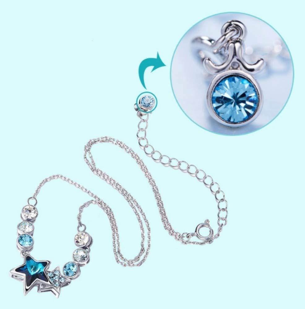 QWERST女性ネックレススターリングシルバー星座人格ペンダントファッションエレガントな絶妙なネックレス最高の贈り物   B07M7NBCXJ