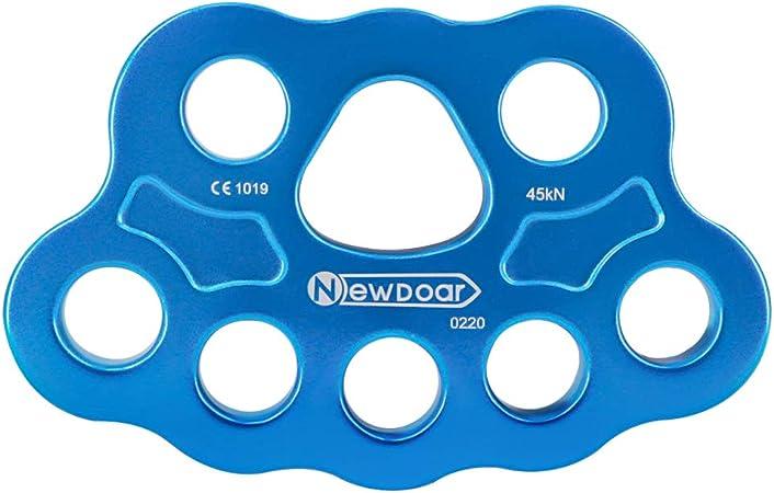 NewDoar Placa descendente 30/40KN pata aparejo placa 4/5 agujeros Rock Climbing Gear