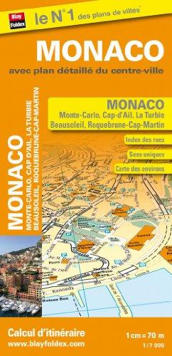 Michelin Street Map Monaco Monte-Carlo Beausoleil Cap-d'ail la turbie