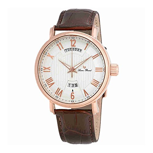 Lucien Piccard Silver Dial Brown Leather Ladies Watch 40054-RG-02S-BRW