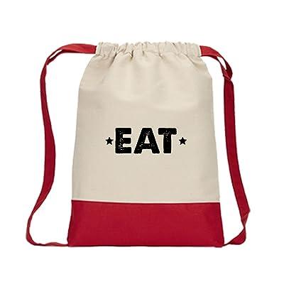 Eat  22 Canvas Backpack Color Drawstring Bag durable modeling - shop ... 54853c90bb398