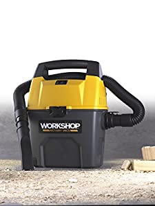 WORKSHOP Wet/Dry Vacs WS0300VA Portable Wet Dry Shop Vacuum for Auto, Garage and In Home, 3-Gallon, 3.5 Peak HP
