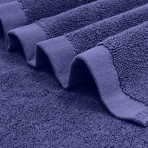 LITTLE JOY Bath Towels Set extra large 100% Cotton shower towels Highly Absorbent Super Soft Bathroom Towels Sets (Blue, Set of 6)