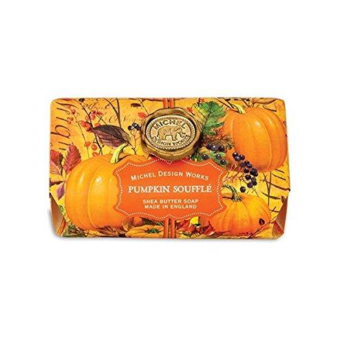 Pumpkin Souffle - Michel Design Works Oversized Triple Milled Shea Butter Bath Soap Bar, Pumpkin Soufflé