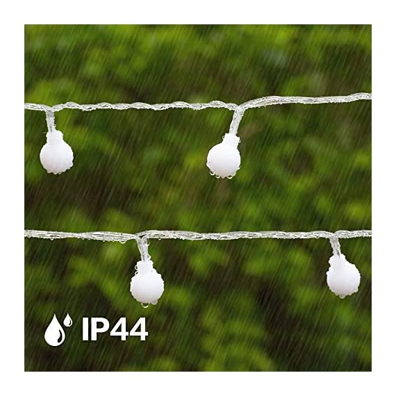 """Ollny Globe String Lights 100 LED 33ft for Indoor Bedroom Wedding Party Outdoor Christmas Garden Decorations Bulb Fairy String Lights with Remote Plug in Multi Color - 💡 8 LIGHTING MODES: The multi-color globe string lights, string length is 33ft, have 100 LEDs and 8 working modes - Combination, In Waves, Sequential, Slo-Glo, Chasing/Flash, Slow Fade, Twinkle/Flash, Steady on. You can use the remote to choose your favorite mode. Softer lights creating warm romantic atmosphere for your family at every moment. 💡 TIMER FUNCTION: TIMER FUNCTION: The fairy string lights come with a remote. Remote control has memory function, no need to repeat settings. If you want to reset you can pull out adapter/plug directly. When the adapter/plug has been pulled out and turned on again, the default light mode is automatically turned on. And you can set the """"Timer"""" by remote, the string lights will be automatically on for 6 hours and off for 18 hours per day. 💡 SAFE FOR USE: UL certificated plug, advanced LED bulbs and really safe DC 29V low voltage plug for use in your home. The high-quality keeps the lights at a low temperature so they are safe to touch after many hours of use. - patio, outdoor-lights, outdoor-decor - 51w6Iggq 3L. SS570  -"""