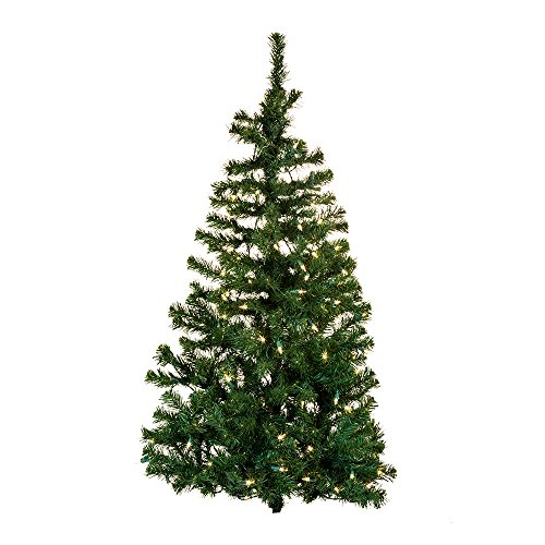 Wall Adler - Kurt Adler Pre-Lit Norway Pine Wall Tree, 48-Inch