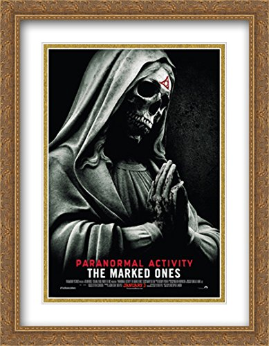 Paranormal Activity The Marked Ones 28x36 Double Matted Large Gold Ornate Framed Movie Poster Art Print by ArtDirect