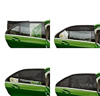 Car Window Sun Shades by The Window Sox | Car Shades Protect Passengers from Sun, Car Interior from Fading | Vehicle Windows Still Work | Baby Window Shade 3 Sizes Available 4WD/Truck, Mid/SUV, Small