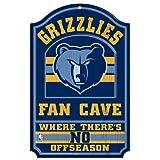 WinCraft NBA Memphis Grizzlies 38344012 Wood Sign, 11'' x 17'', Black