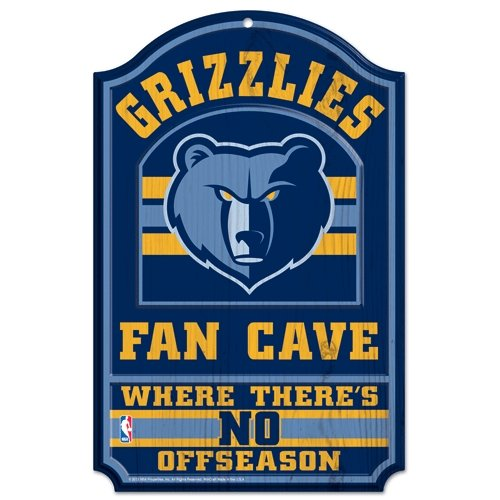 WinCraft NBA Memphis Grizzlies 38344012 Wood Sign, 11'' x 17'', Black by WinCraft