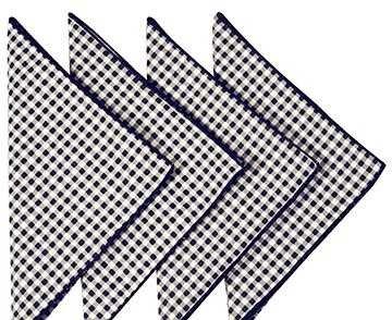 Cloth Napkins Cotton Dinner Napkins Linen Napkins Table Linens Black and White 18