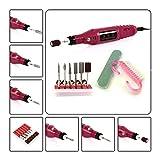 Nail Art Drill Pedicure Manicure(20000RPM,100-240V),Brtterhill Portable&Mini Electric Nail Drill Kit for Acrylics, Gels, Natural Nails+Free 6 Bits and NAIL File
