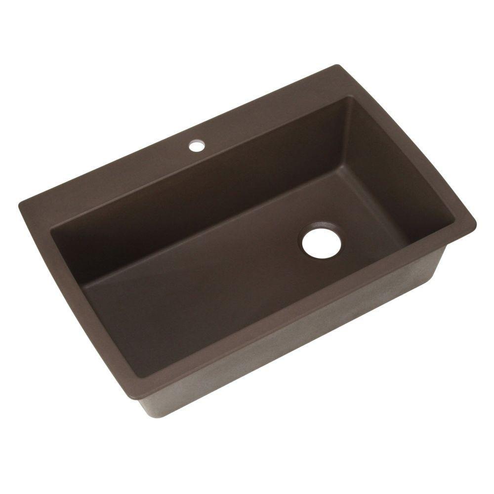 32-1 2 x 22 Kitchen Sink – Caf Brown
