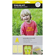 Sew Easy Industries 2-Sheet Letter Transfers, 1.5-Inch, Neon Yellow