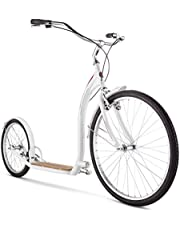 """Schwinn Adult Shuffle Scooter with 26"""" Wheels, White, 16""""/Small"""