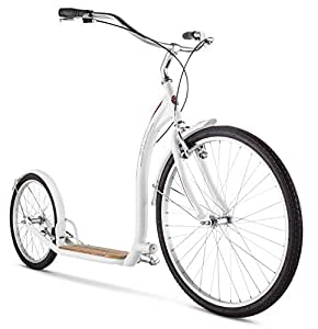 "Schwinn Adult Shuffle Scooter with 26"" Wheels, White, 16""/Small"