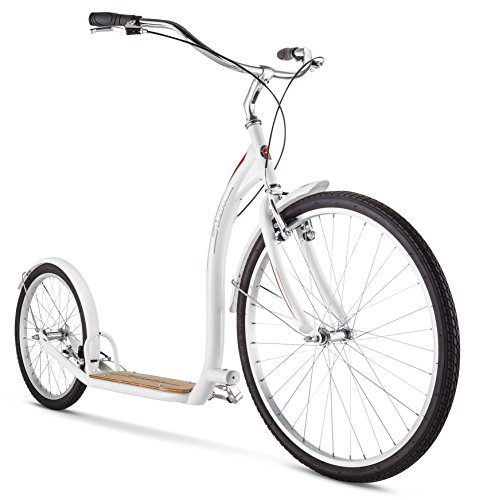 "Price comparison product image Schwinn Adult Shuffle Scooter with 26"" Wheels, White, 16""/Small"