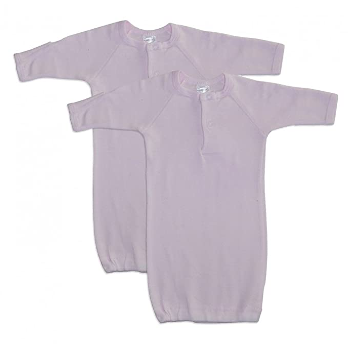 Amazon.com: bambini Baby Girls Pink 2-Pack Gowns, Preemie: Clothing