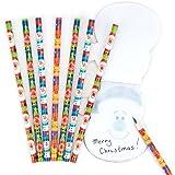 Baker Ross Bleistifte Festliche Freunde für Kinder – Zum Spielen und als Geschenk für Kinder zu Weihnachten (8 Stück)
