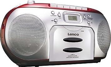 Lenco scd rd tragbares ukw radio mit toplader cd spieler und