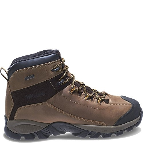 Wolverine Men's Black Ledge LX Waterproof Leather Steel-Toe Mid-Cut Hiking Boot (12 EW in Cigar/Gold) (Ledge Mid Leather)